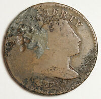 1795 LARGE CENT.  NEEDS EXPERT CONSERVATION.  149437