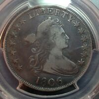 1806/9  6 OVER INVERTED 6  PCGS F-12?  EARLY DRAPED BUST HALF DOLLAR LOOKS VF