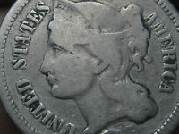 1865-1889 THREE 3 CENT NICKEL- VG DETAILS