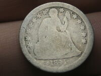 1841 O SEATED LIBERTY DIME- GOOD DETAILS