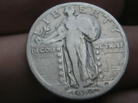 1926 S SILVER STANDING LIBERTY QUARTER, FINE DETAILS