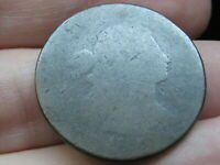 1796-1807 DRAPED BUST LARGE CENT PENNY, LOWBALL, HEAVILY WORN, POCKET PIECE?