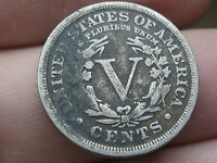 1910 LIBERTY HEAD V NICKEL- FINE/VF DETAILS, FULL RIMS
