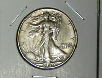 AU 1939 WALKING LIBERTY SILVER HALF DOLLAR ABOUT UNCIRCULATED PHILADELPHIA 7220