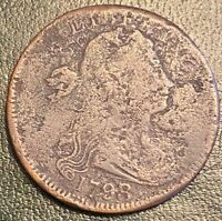 1798/7 S 152 R3 DRAPED BUST LARGE CENT. 1798 OVER 7 OVERDATE