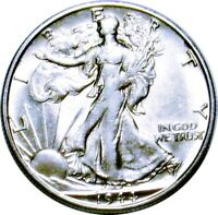 1944-S WALKING LIBERTY HALF DOLLAR  AU ABOUT UNCIRCULATED  SILVER 50C