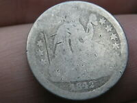 1842 O SEATED LIBERTY SILVER DIME