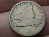 1858 FLYING EAGLE PENNY CENT, SMALL LETTERS, GOOD DETAILS