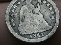 1841 O SEATED LIBERTY HALF DIME- GOOD DETAILS