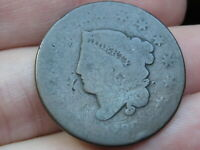 1830 MATRON HEAD LARGE CENT PENNY- LARGE LETTERS