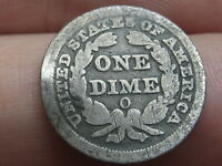 1856 O SEATED LIBERTY DIME- GOOD DETAILS