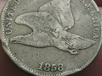1858 FLYING EAGLE PENNY CENT- SMALL LETTERS, FINE DETAILS