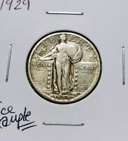 1929 STANDING LIBERTY QUATER EXTRA FINE /VF SOLID OVERALL COIN