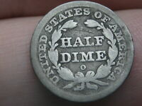 1842 O SEATED LIBERTY HALF DIME- GOOD/VG DETAILS