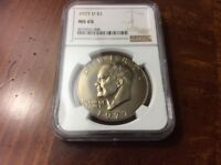 1977 D EISENHOWER IKE DOLLAR NGC MINT STATE 65 UNC COIN
