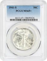 1941-S 50C PCGS MINT STATE 65 - WALKING LIBERTY HALF DOLLAR