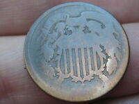 1864-1872 TWO 2 CENT PIECE- LARGE MOTTO