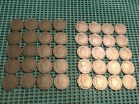 COMPLETE ROLL OF 40 1906 LIBERTY NICKELS- GOOD/VG