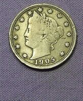 1905  LIBERTY HEAD V NICKEL     90704210