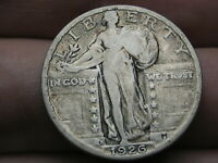 1926 S SILVER STANDING LIBERTY QUARTER, VF DETAILS