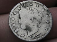 1889 LIBERTY HEAD V NICKEL- VG DETAILS