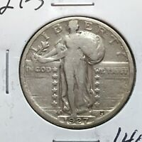1927-S  STANDING LIBERTY QUARTER  LOW MINTAGE