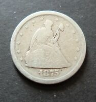1875S SILVER USA 20 CENTS COIN CIRCULATED GOOD CONDITION RAW