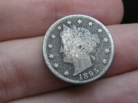 1895 LIBERTY HEAD V NICKEL 5 CENT PIECE- GOOD/VG DETAILS