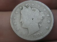 1891 LIBERTY HEAD V NICKEL 5 CENT PIECE