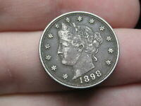 1898 LIBERTY HEAD V NICKEL 5 CENT PIECE- EXTRA FINE  DETAILS