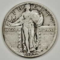 1927-D STANDING LIBERTY QUARTER.  NATURAL V.F.  149283