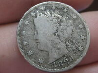 1889 LIBERTY HEAD V NICKEL- VG/FINE DETAILS