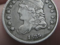 1835 CAPPED BUST HALF DIME- VF DETAILS, SMALL DATE, SMALL 5C