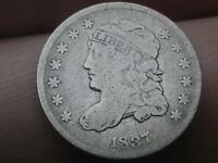 1837 CAPPED BUST HALF DIME- SMALL 5C- VG/FINE DETAILS
