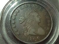 1806/9  6 OVER INVERTED 6  PCGS VF-25  EARLY DRAPED BUST HALF DOLLAR
