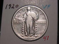 1920 STANDING LIBERTY QUARTER VF  COMBINED SHIPPING