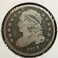 1836  FINE  CAPPED BUST DIME   COIN