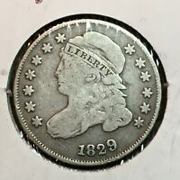 1829   FINE   CAPPED BUST DIME   COIN  1