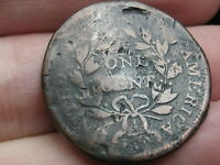 1796-1807 DRAPED BUST LARGE CENT PENNY- WITH STEMS, LARGE FRACTION