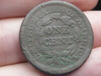 1853 BRAIDED HAIR LARGE CENT PENNY- UNDERGROUND/METAL DETECTOR FIND?