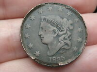 1835 MATRON HEAD LARGE CENT PENNY, MATURE HEAD, LARGE 8 AND STARS, FINE DETAILS
