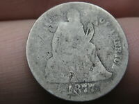 1877 P SILVER SEATED LIBERTY DIME