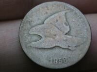 1858 FLYING EAGLE PENNY CENT- SMALL LETTERS, GOOD DETAILS