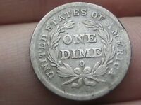 1839 O SEATED LIBERTY SILVER DIME- VG/FINE DETAILS