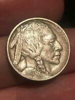 1913 P BUFFALO NICKEL 5 CENT PIECE- TYPE 2 T2, EXTRA FINE  DETAILS, FULL HORN
