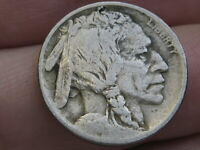 1913 P BUFFALO NICKEL 5 CENT PIECE- TYPE 1 T1 FINE DETAILS, PARTIAL HORN