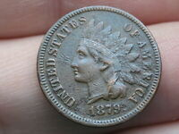 1879 INDIAN HEAD CENT PENNY- LIBERTY VISIBLE, VF/EXTRA FINE  DETAILS