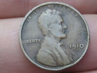 1910 S LINCOLN CENT WHEAT CENT- VG DETAILS