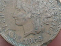 1868 INDIAN HEAD CENT PENNY- VG/FINE DETAILS