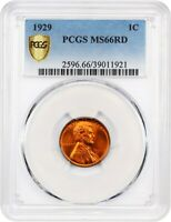 1929 1C PCGS MINT STATE 66 RD - LINCOLN CENT